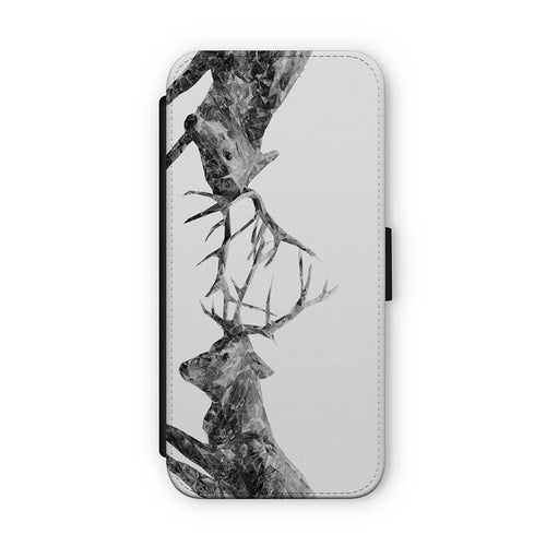 """The Showdown"" Rutting Stags (B&W) Flip Phone Case"