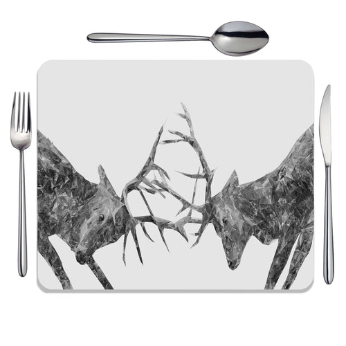 """The Showdown"" Rutting Stags (B&W) Placemat"