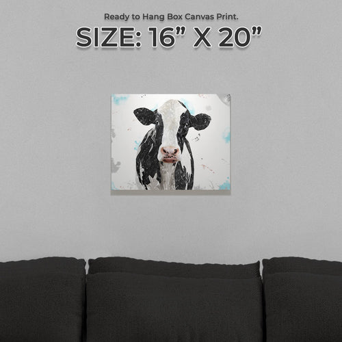 """Harriet"" The Holstein Cow Small Canvas Print"