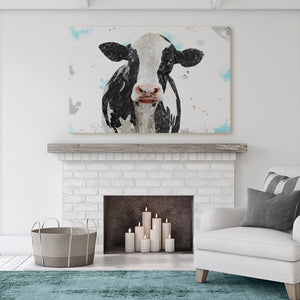 """Harriet"" The Holstein Cow Canvas Print - Andy Thomas Artworks"