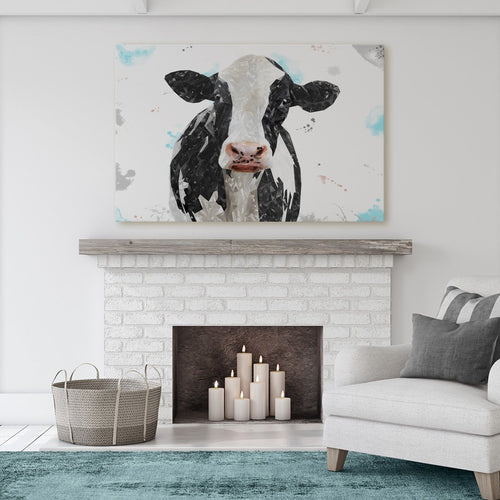 """Harriet"" The Holstein Cow Massive Canvas Print"
