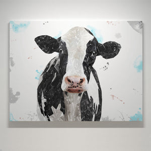 """Harriet"" The Holstein Cow Large Canvas Print - Andy Thomas Artworks"