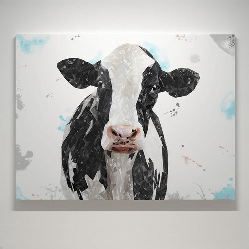 """Harriet"" The Holstein Cow Large Canvas Print"