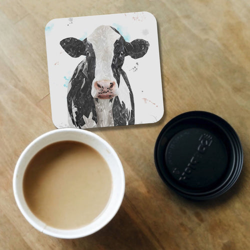 """Harriet"" The Holstein Cow Coaster"
