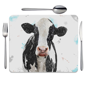 """Harriet"" The Holstein Cow Placemat - Andy Thomas Artworks"