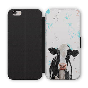 """Harriet"" The Holstein Cow Flip Phone Case - Andy Thomas Artworks"