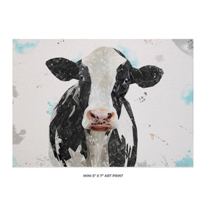 """Harriet"" The Holstein Cow 5x7 Mini Print - Andy Thomas Artworks"