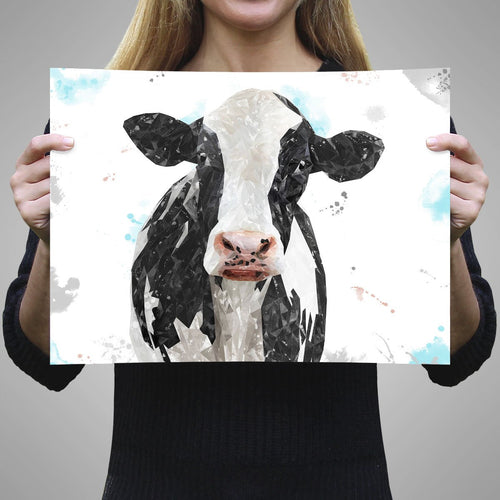 """Harriet"" The Holstein Cow A2 Unframed Art Print"