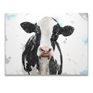 """Harriet"" The Holstein Cow Skinny Canvas Print - Andy Thomas Artworks"