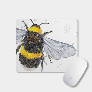 """The Bee"" (Grey Background) Mousemat - Andy Thomas Artworks"