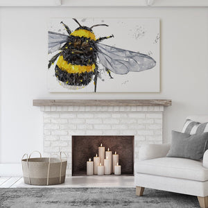 """The Bee"" (Grey Background) Massive Canvas Print - Andy Thomas Artworks"