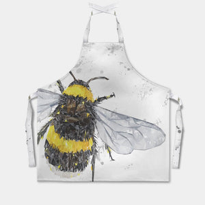 """The Bee"" (Grey Background) Apron - Andy Thomas Artworks"