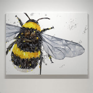 """The Bee"" (Grey Background) Small Canvas Print - Andy Thomas Artworks"