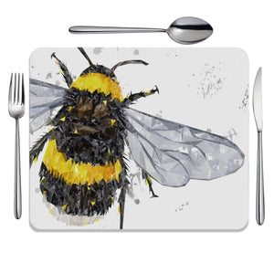 """The Bee"" (Grey Background) Placemat - Andy Thomas Artworks"
