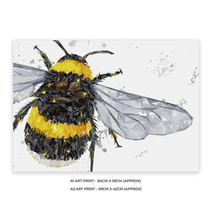 """The Bee"" (Grey Background) A1 Unframed Art Print"