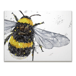"""The Bee"" (Grey Background) Skinny Canvas Print - Andy Thomas Artworks"