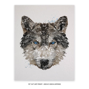 """The Wolf"" 10"" x 8"" Unframed Art Print - Andy Thomas Artworks"