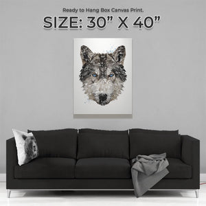 """The Wolf"" Large Canvas Print - Andy Thomas Artworks"