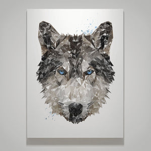 """The Wolf"" Small Canvas Print - Andy Thomas Artworks"