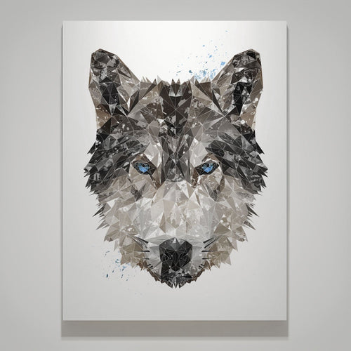 """The Wolf"" Large Canvas Print"