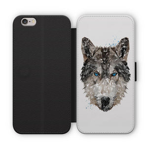 """The Wolf"" Flip Phone Case - Andy Thomas Artworks"