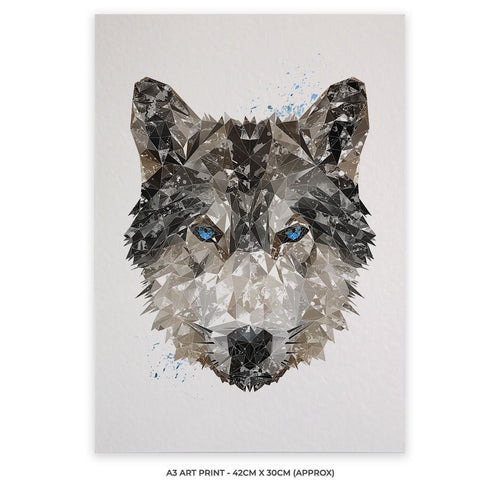"""The Wolf"" A3 Unframed Art Print"