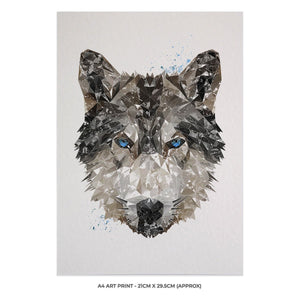 """The Wolf"" A4 Unframed Art Print - Andy Thomas Artworks"