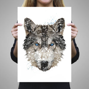 """The Wolf"" A3 Unframed Art Print - Andy Thomas Artworks"