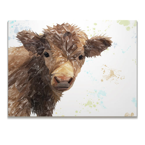 """Buckley"" The Highland Calf Skinny Canvas Print"
