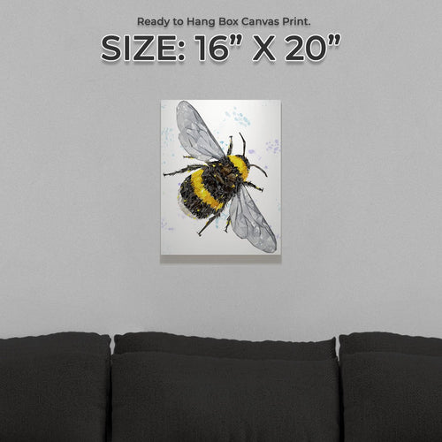"""The Bee"" (Portrait) Small Canvas Print"