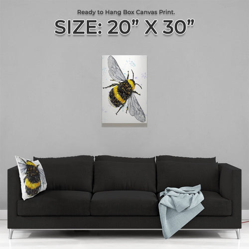 """The Bee"" (Portrait) Medium Canvas Print"