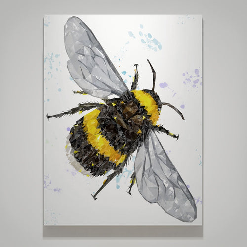 """The Bee"" (Portrait) Large Canvas Print"