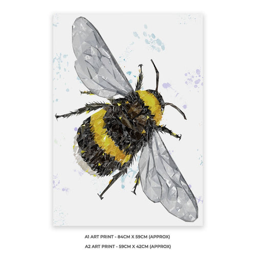 """The Bee"" (Portrait) A2 Unframed Art Print"