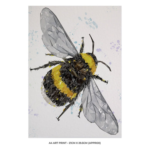 """The Bee"" (Portrait) A4 Unframed Art Print"