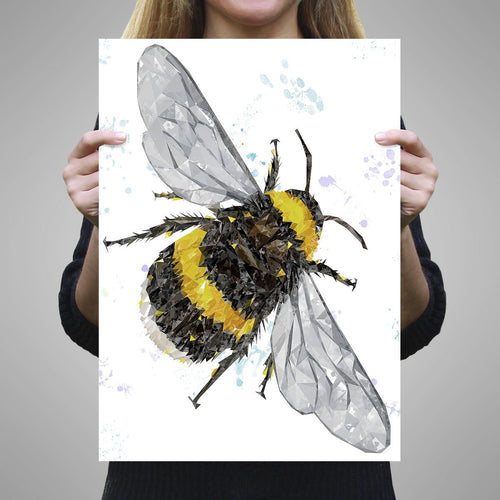"""The Bee"" (Portrait) A3 Unframed Art Print"