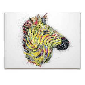 """The Punk Zebra"" Skinny Canvas Print"