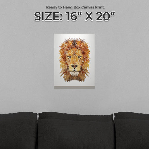 """The Lion"" Small Canvas Print"