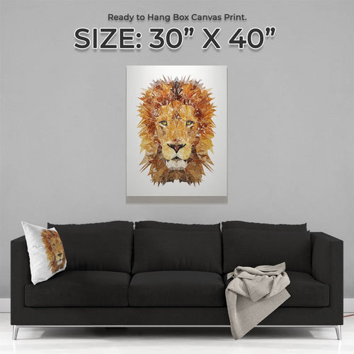 """The Lion"" Large Canvas Print"