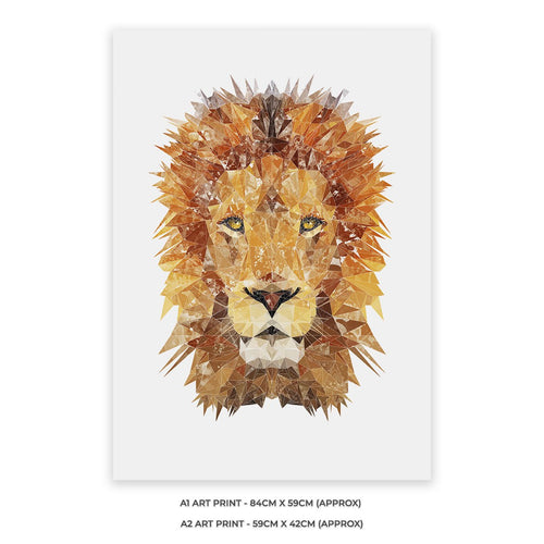 """The Lion"" A1 Unframed Art Print"