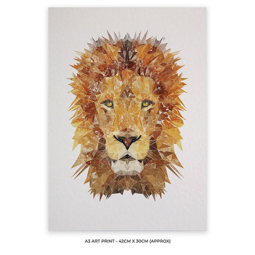 """The Lion"" A3 Unframed Art Print"