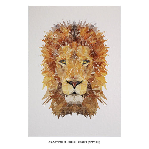 """The Lion"" A4 Unframed Art Print"