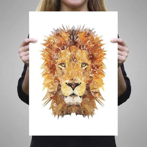 """The Lion"" A2 Unframed Art Print"