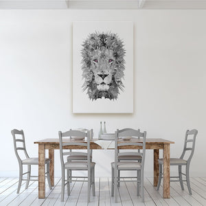 """The Lion"" (B&W) Canvas Print - Andy Thomas Artworks"