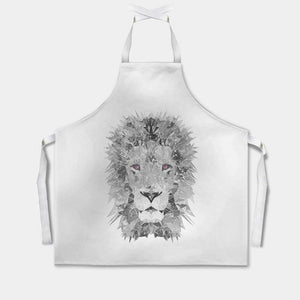 """The Lion"" (B&W) Apron - Andy Thomas Artworks"