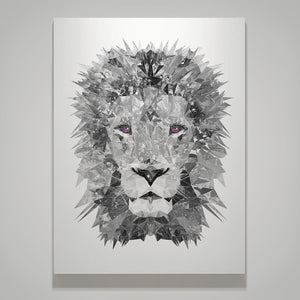 """The Lion"" (B&W) Medium Canvas Print - Andy Thomas Artworks"