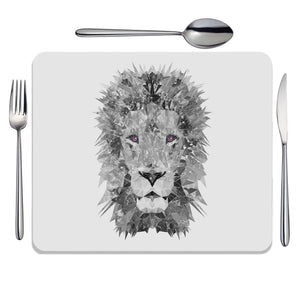 """The Lion"" (B&W) Placemat - Andy Thomas Artworks"