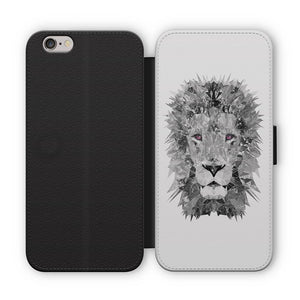 """The Lion"" (B&W) Flip Phone Case - Andy Thomas Artworks"