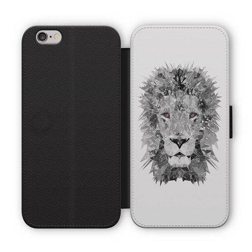 """The Lion"" (B&W) Flip Phone Case"