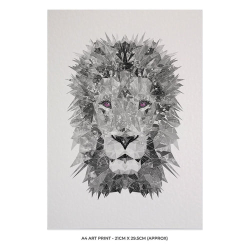 """The Lion"" (B&W) A4 Unframed Art Print"
