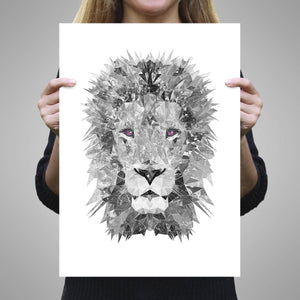 """The Lion"" (B&W) A3 Unframed Art Print - Andy Thomas Artworks"